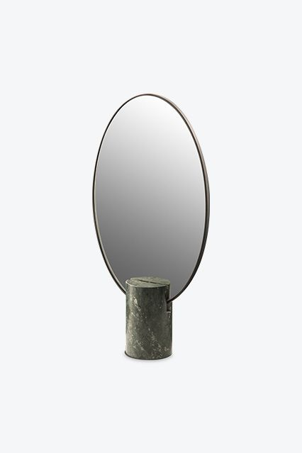 Mirror Oval Marble in Green