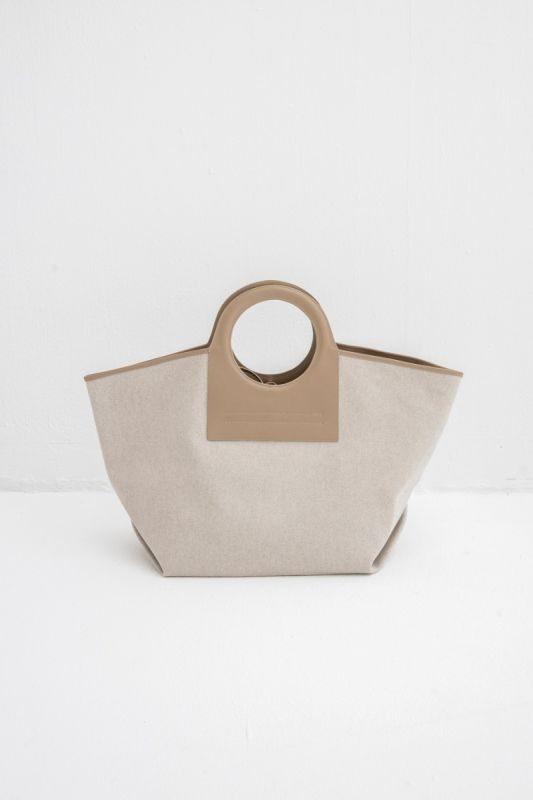 Cala Large Tote Bag in Beige Taupe