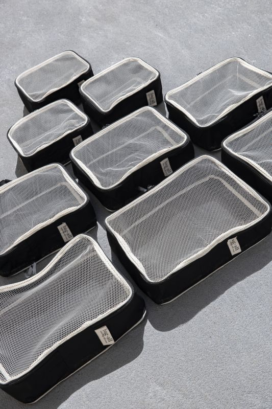 Blank Packing Cubes in Black