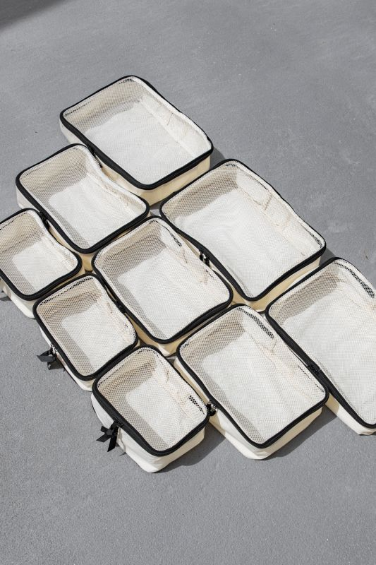 Blank Packing Cubes in White