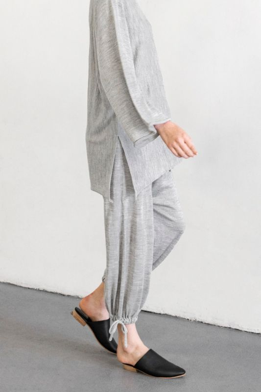 Draw Pant in Light Grey