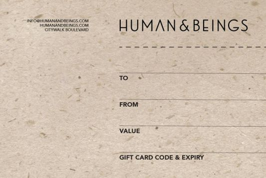 Human & Beings Gift Card