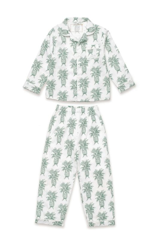 Kids Howie Print Pajama in White
