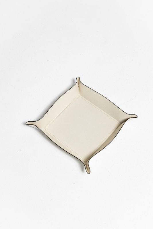 22X22 CM Trinket Tray in Cream