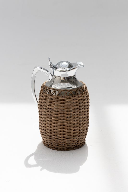 1 LT Villandry Thermal Carafe in Dark Brown Rattan