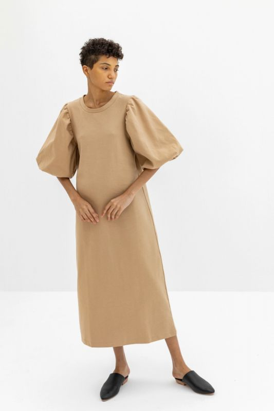 Atenea Dress in Sand
