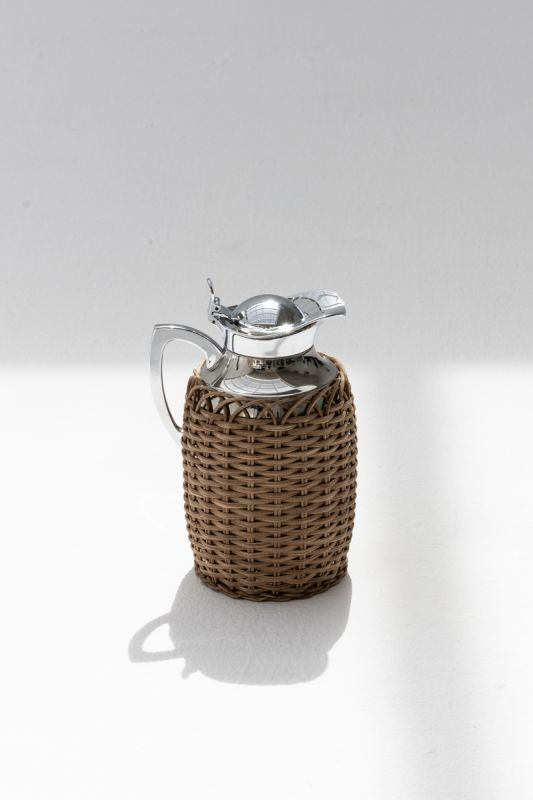 0.75 LT Villandry Thermal Carafe in Dark Brown Rattan