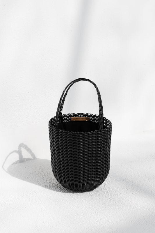 Small Bucket Tote Bag in Black