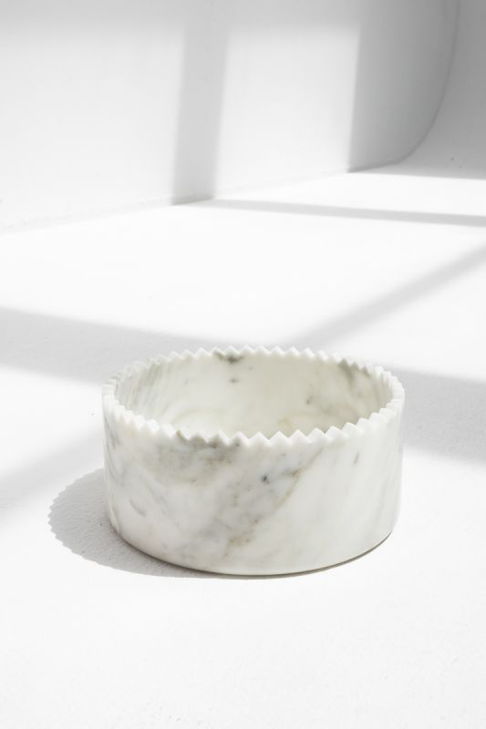 Triangoli Bowls in White
