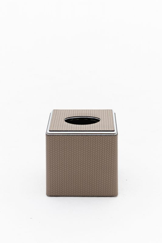 14x14x13.5 CM Square Tissue Box in Firenze Taupe
