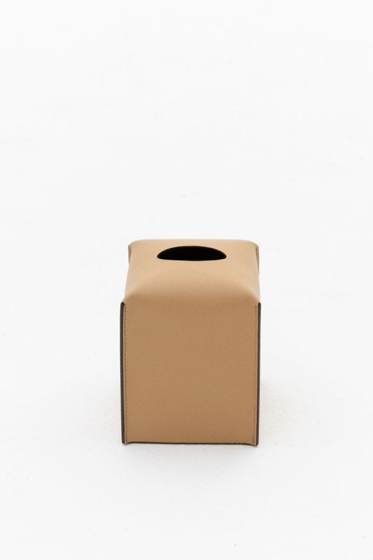 12.2x10.7x12 CM Square Tissue Box in Nocciola