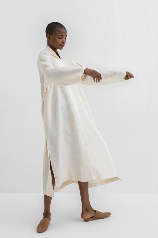 Dormer Shirt Dress in Muslin