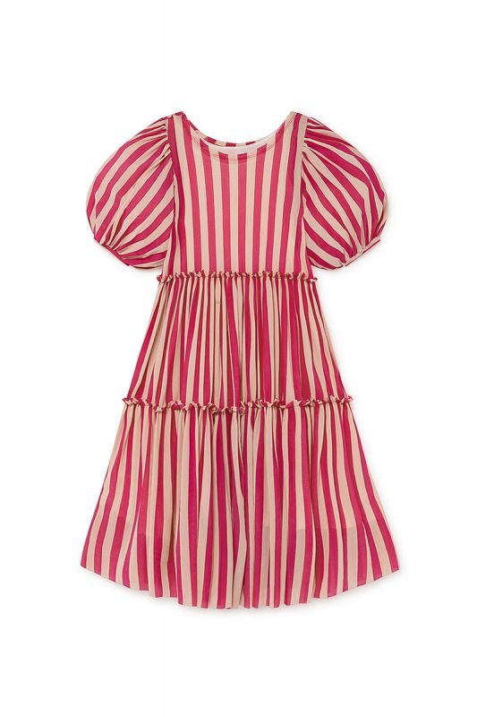 Playground Fairy Dress in Candy Pink Stripe