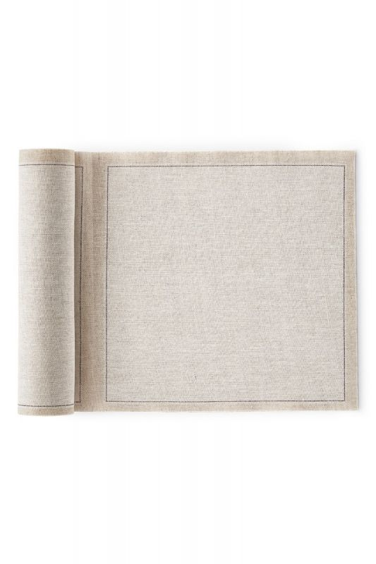Roll of 20 Linen Napkins in Natural 20x20 CM