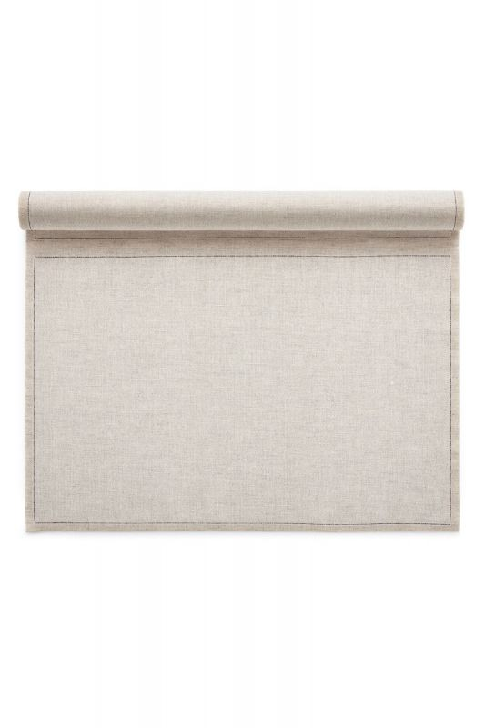 Roll of 12 Linen Placemats in Natural 45x32 CM